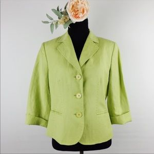 Kate Hill green career blazer jacket 8P